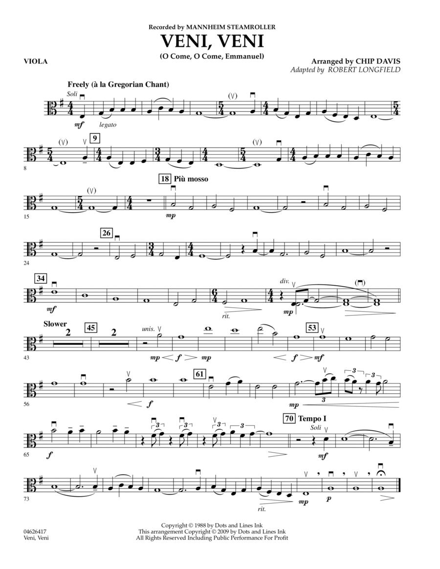 Veni, Veni (O Come, O Come Emmanuel) - Viola