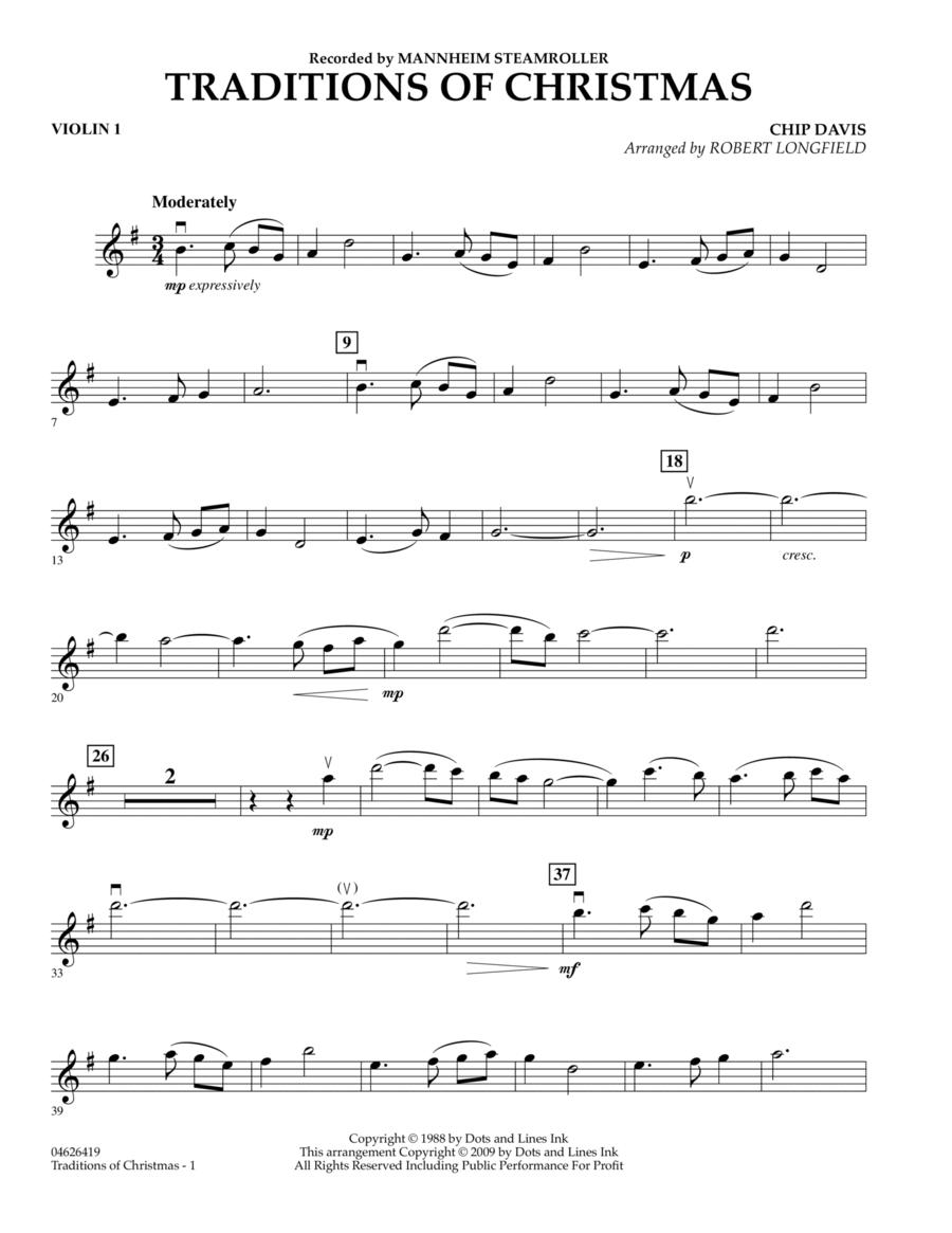 Traditions of Christmas - Violin 1