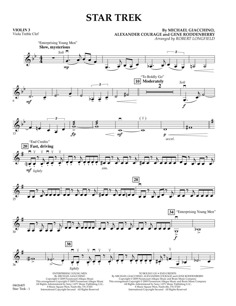 Star Trek - Violin 3 (Viola Treble Clef)