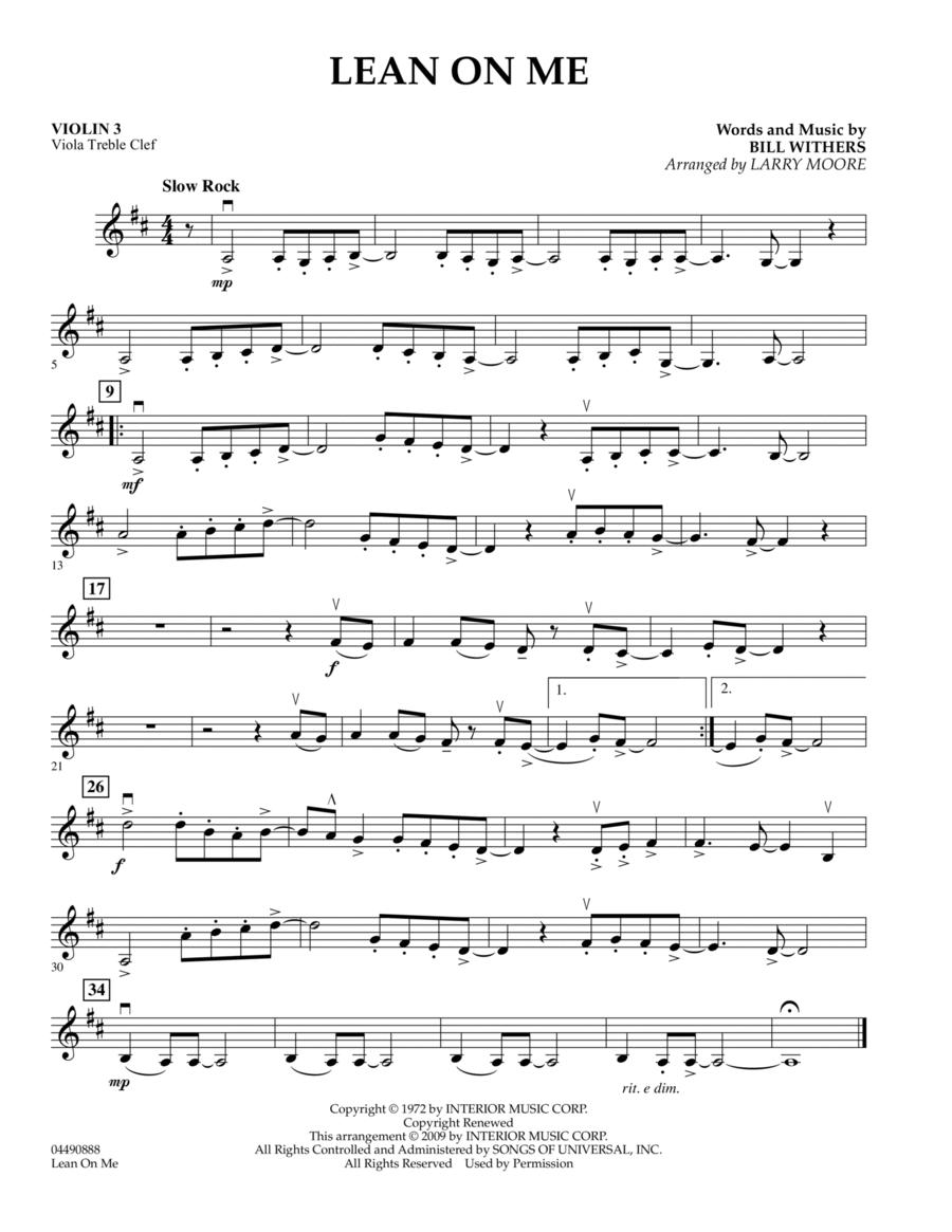 Lean On Me - Violin 3 (Viola T.C.)