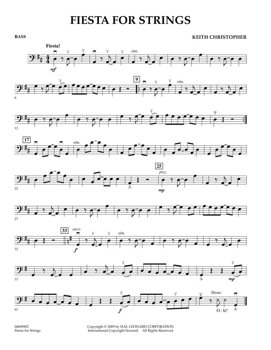 Fiesta for Strings - Bass