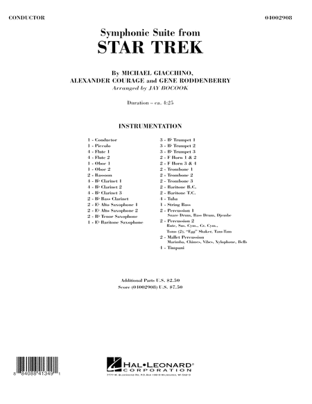 Symphonic Suite from Star Trek - Full Score