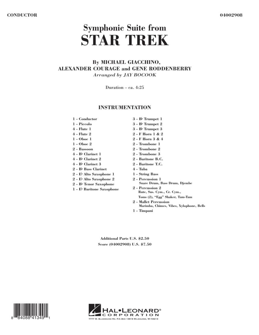 Symphonic Suite from Star Trek - Full Score