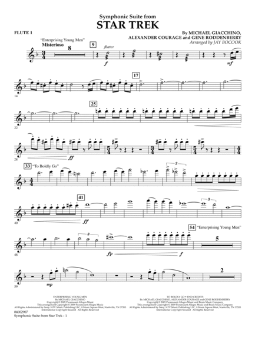Symphonic Suite from Star Trek - Flute 1