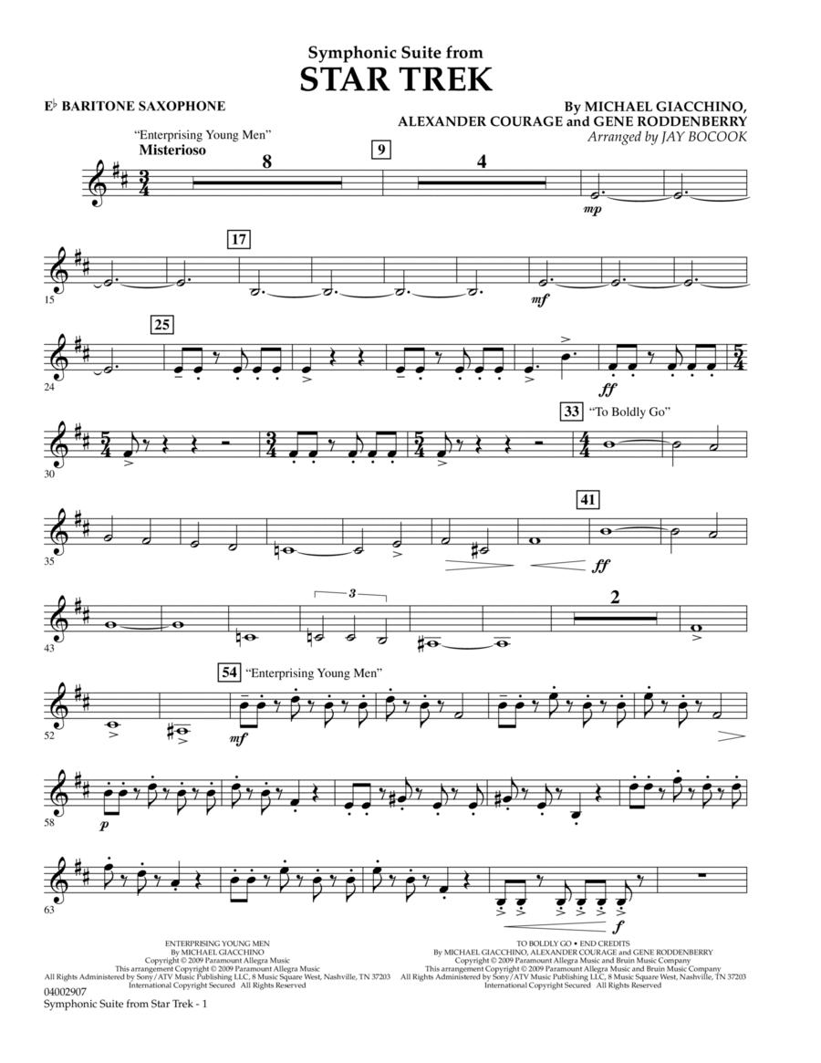 Symphonic Suite from Star Trek - Eb Baritone Saxophone