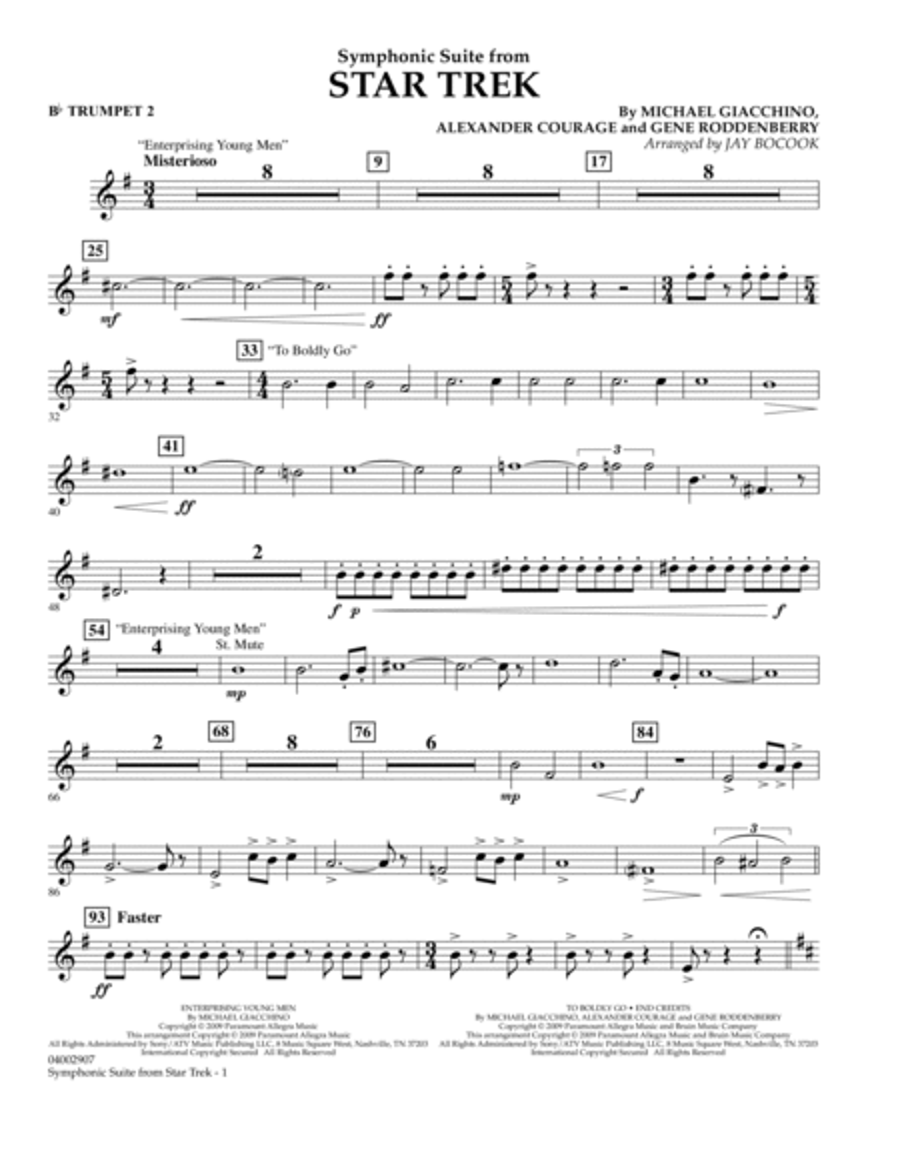 Symphonic Suite from Star Trek - Bb Trumpet 2