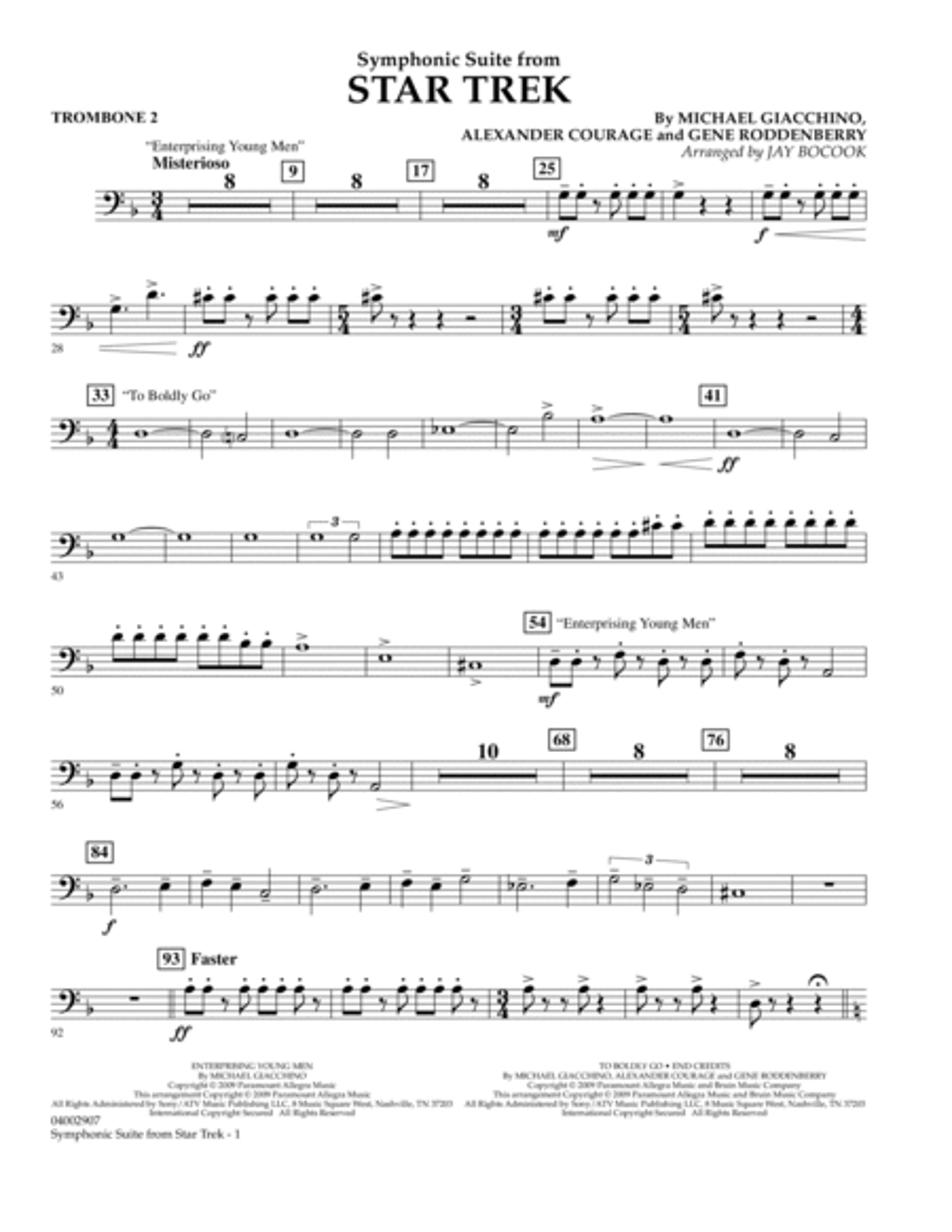 Symphonic Suite from Star Trek - Trombone 2