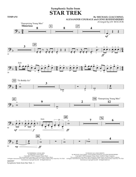 Symphonic Suite from Star Trek - Timpani