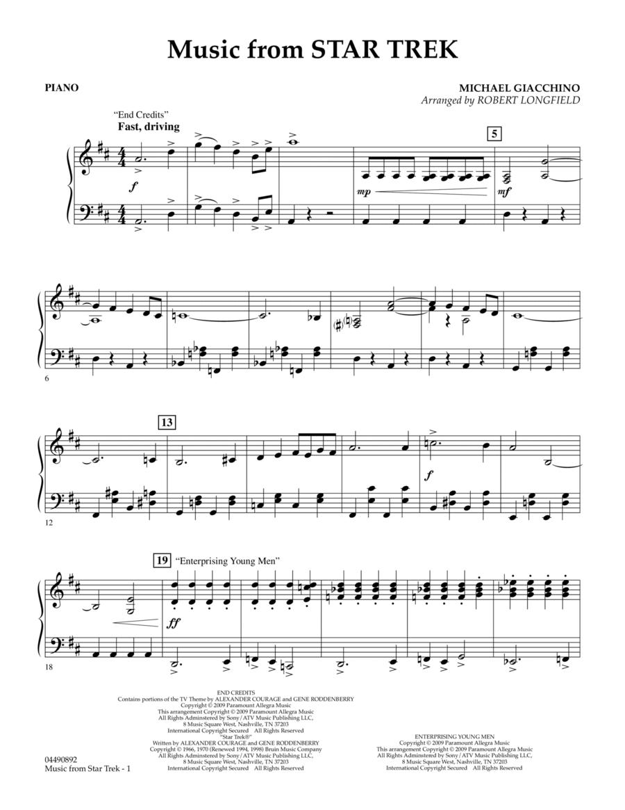 Music from Star Trek - Piano