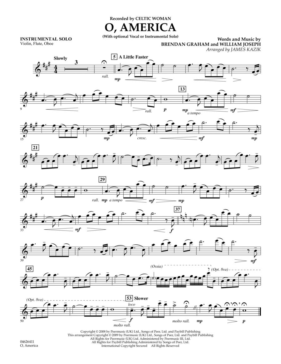 O, America - Instrumental Solo - Vln.Fl.Ob