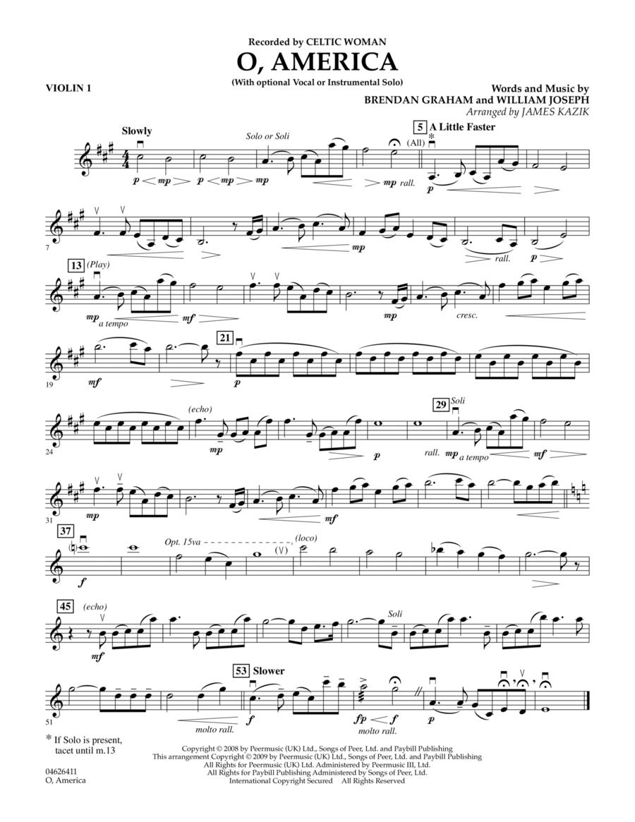 O, America - Violin 1