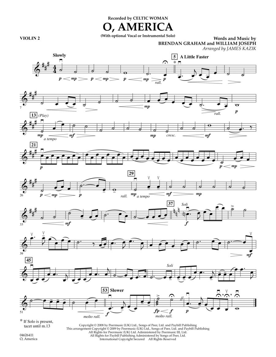 O, America - Violin 2