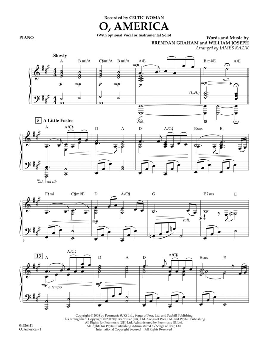 O, America - Piano