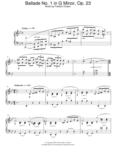 Ballade No. 1 In G Minor, Op.23