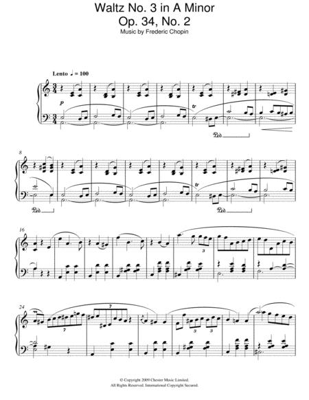 Waltz No. 3 In A Minor, Op. 34, No. 2