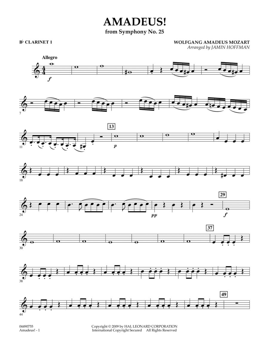 Amadeus! - Bb Clarinet 1