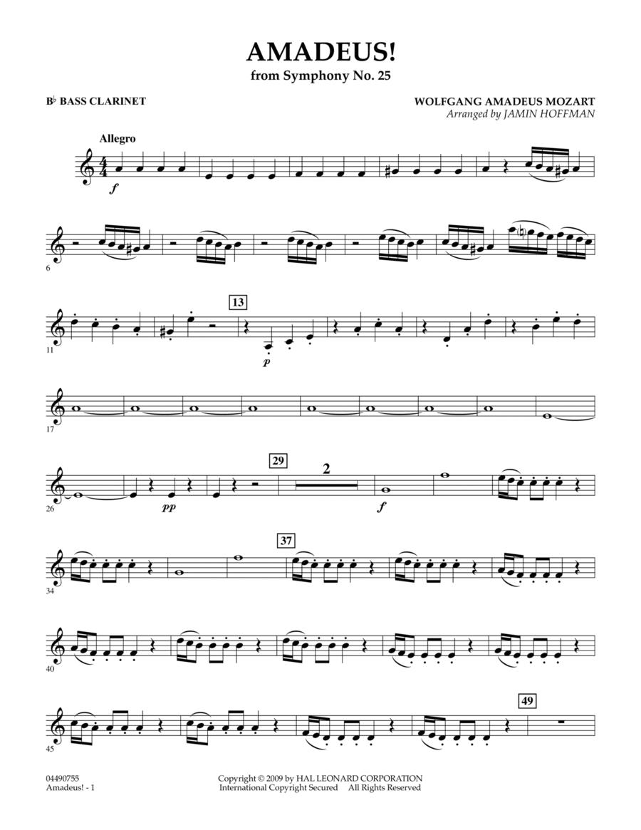 Amadeus! - Bb Bass Clarinet