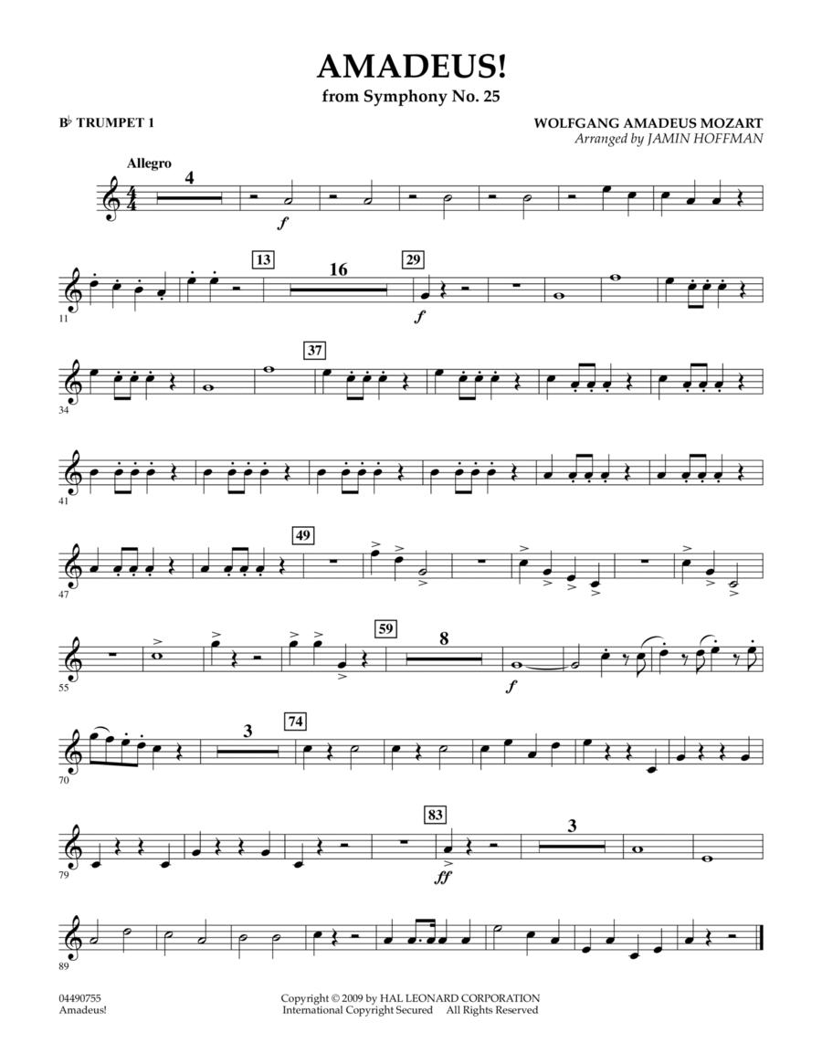 Amadeus! - Bb Trumpet 1