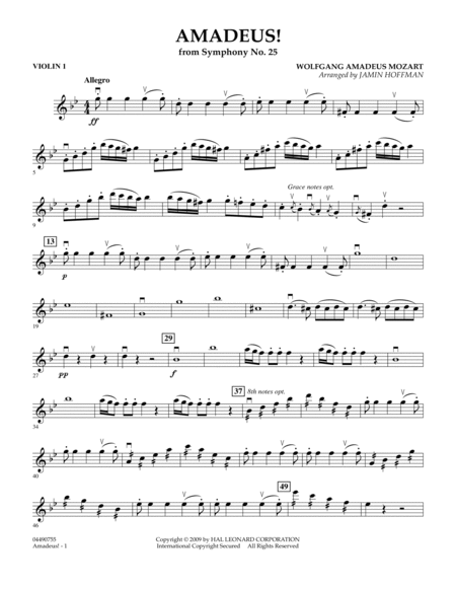 Amadeus! - Violin 1
