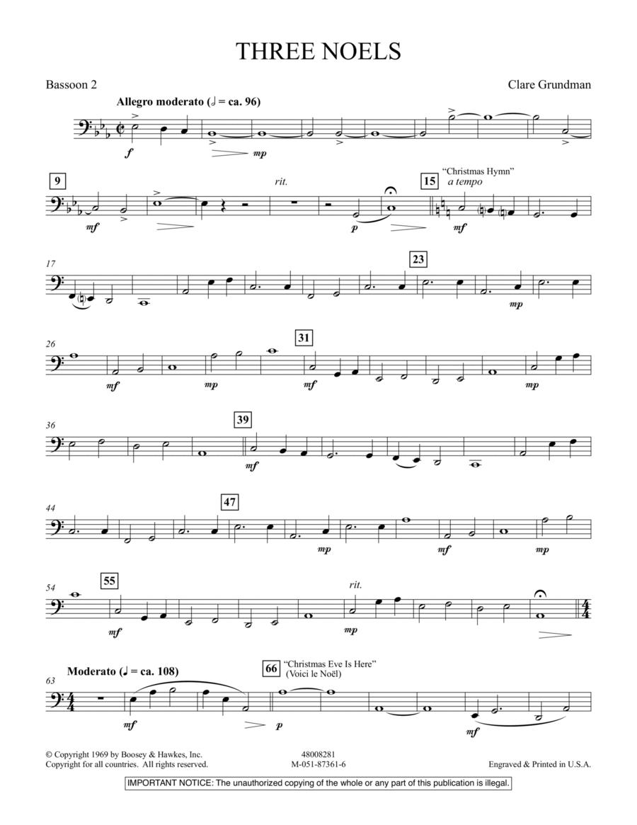 Three Noels - Bassoon 2