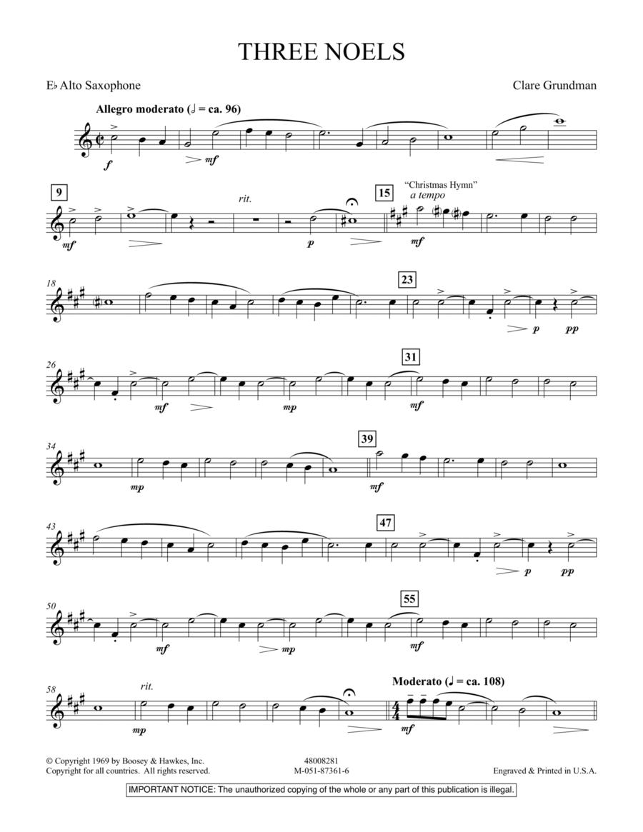 Three Noels - Eb Alto Saxophone