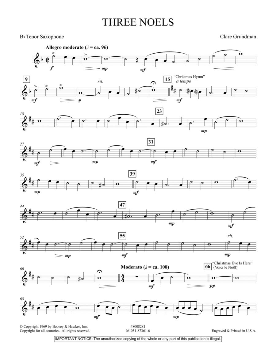 Three Noels - Bb Tenor Saxophone