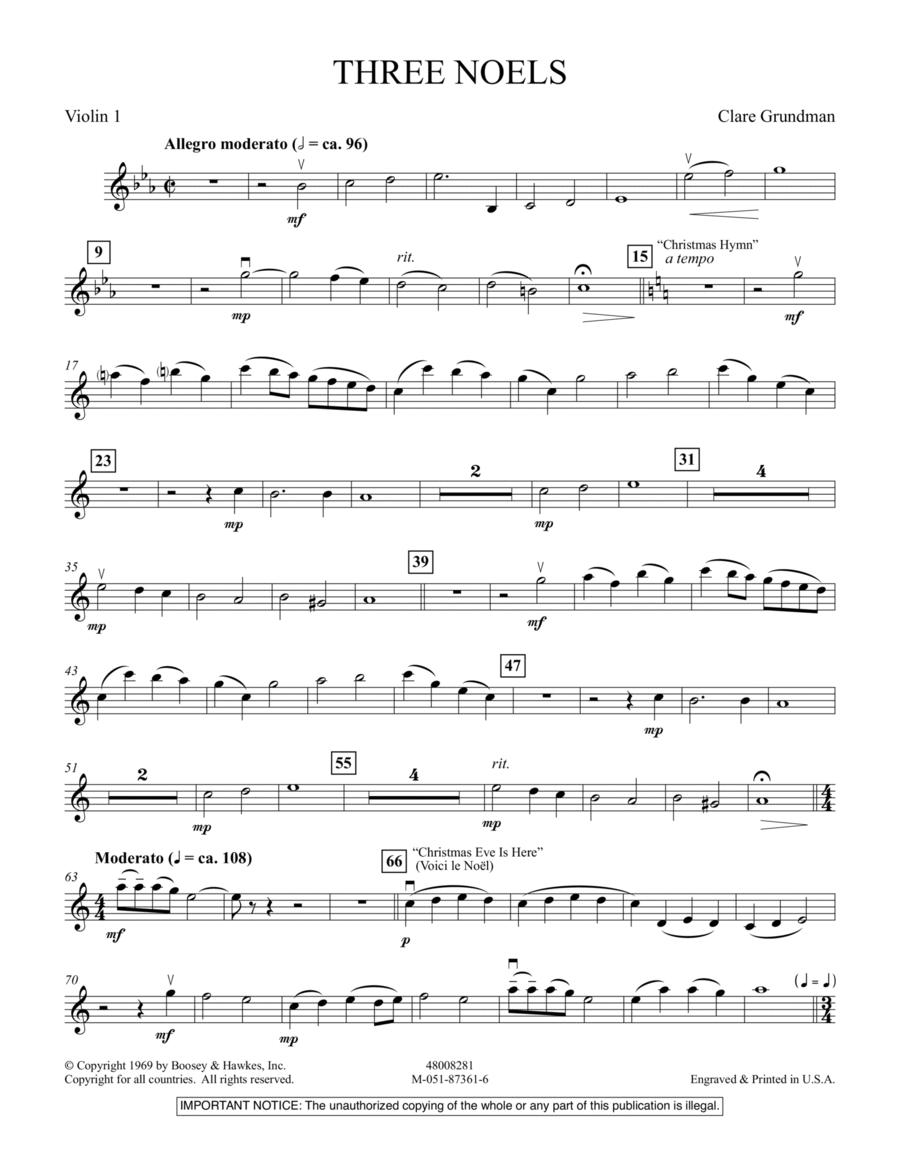 Three Noels - Violin 1