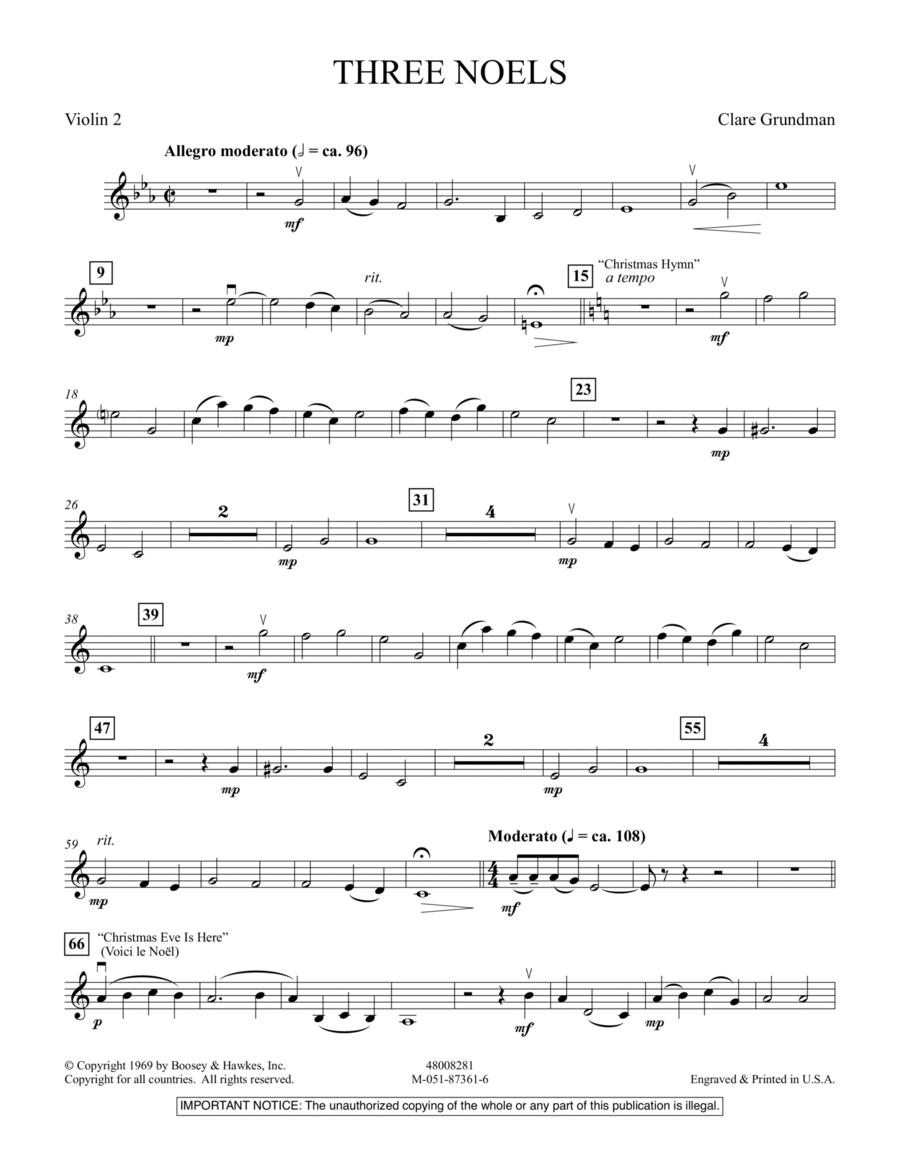 Three Noels - Violin 2