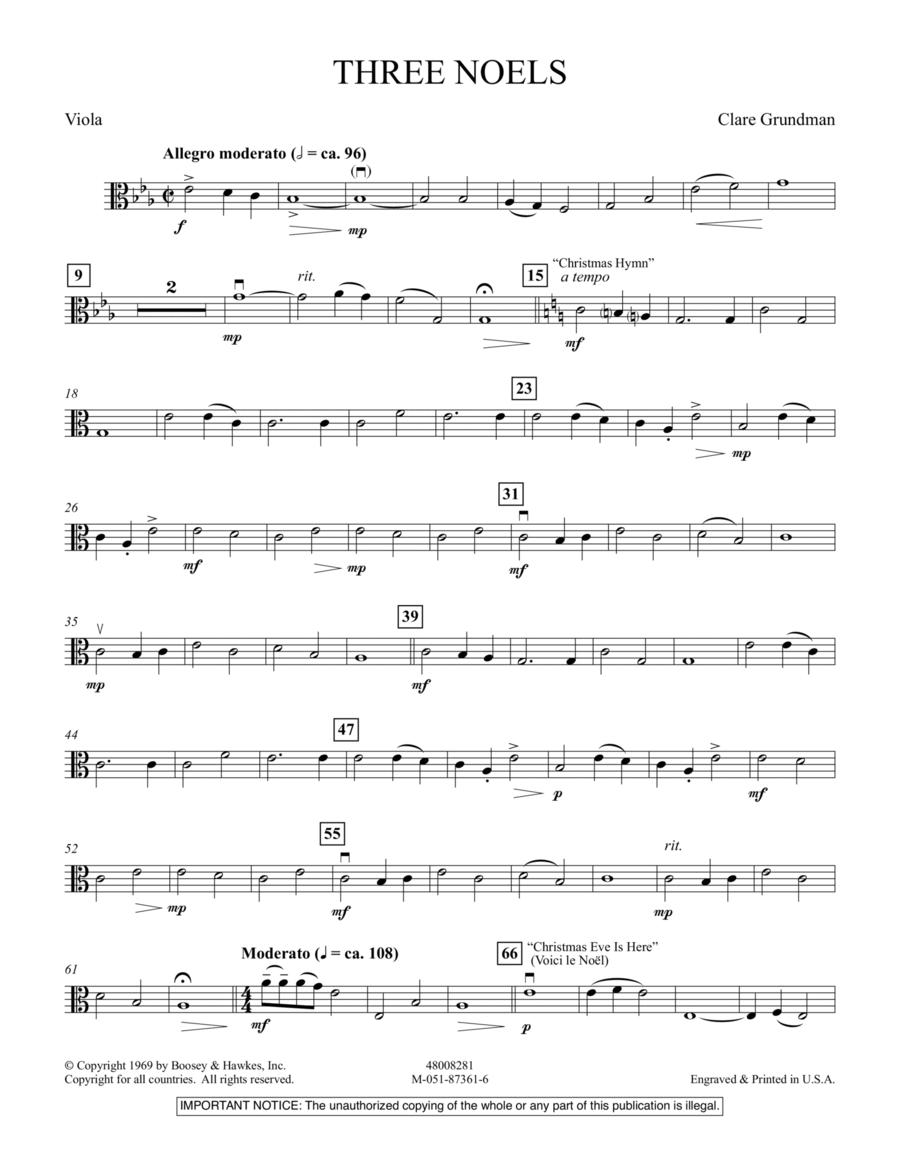Three Noels - Viola