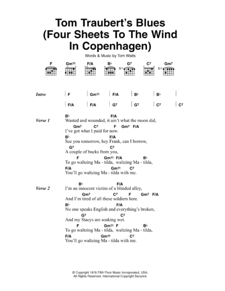 Tom Traubert's Blues (Four Sheets To The Wind In Copenhagen)
