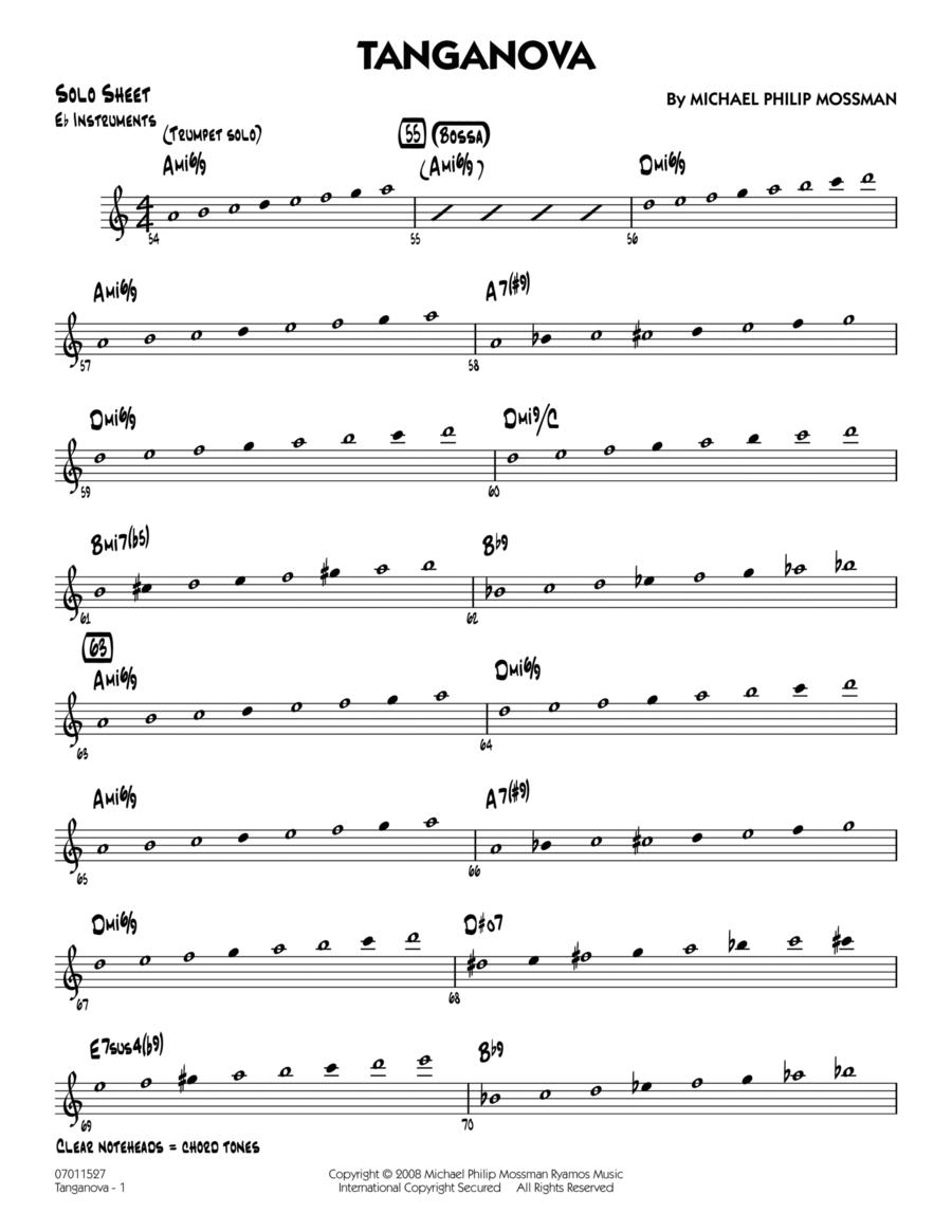 Tanganova - Eb Solo Sheet