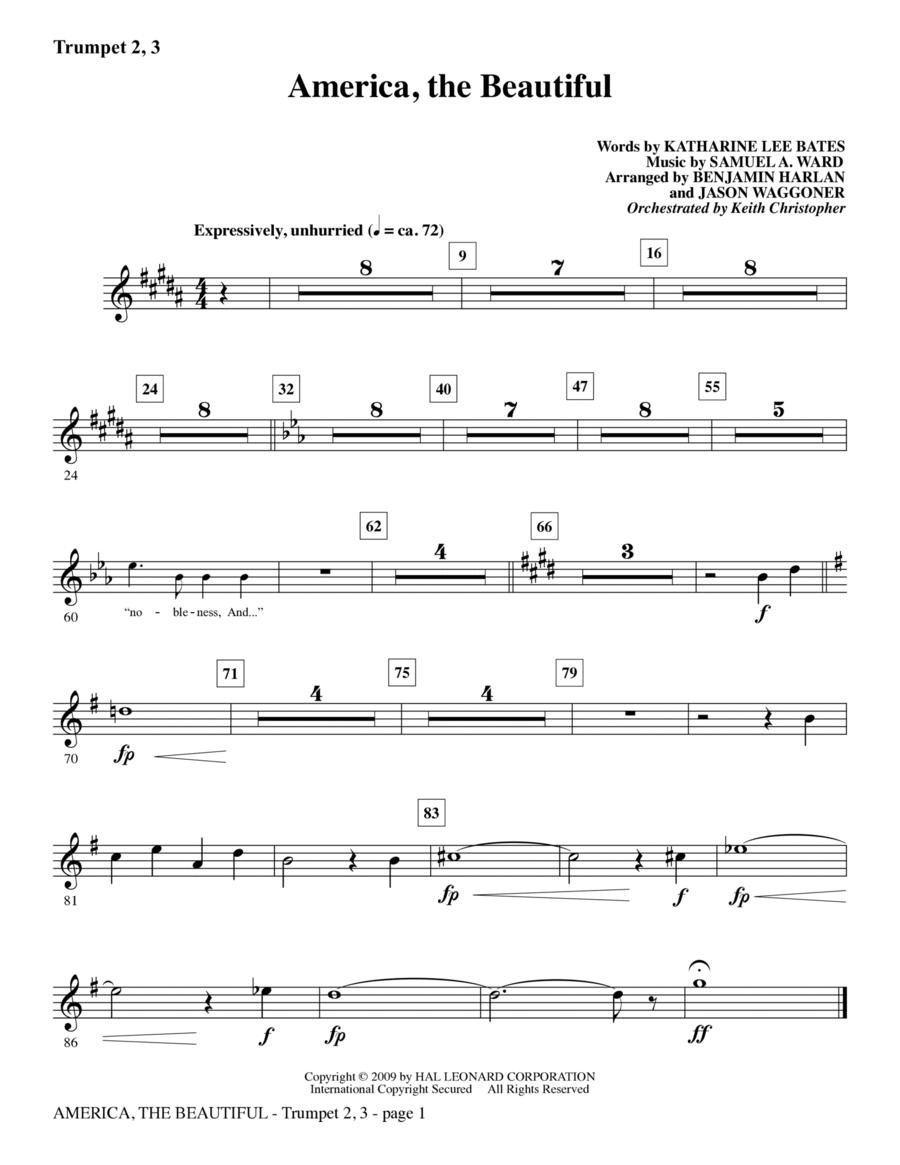 America, The Beautiful - Bb Trumpet 2,3