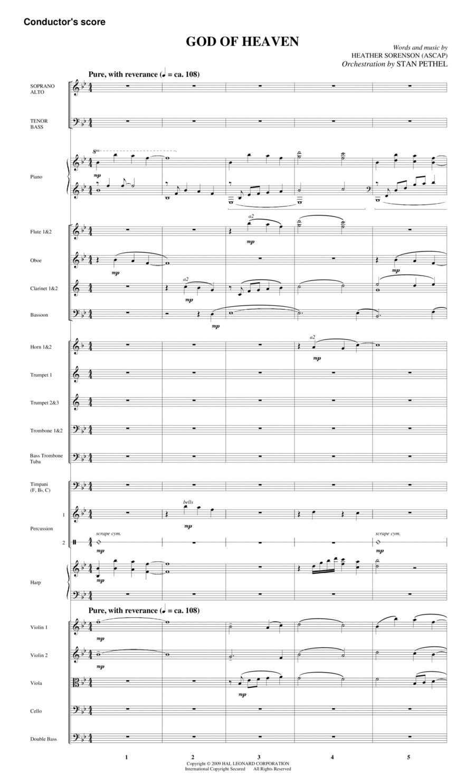 God Of Heaven - Full Score