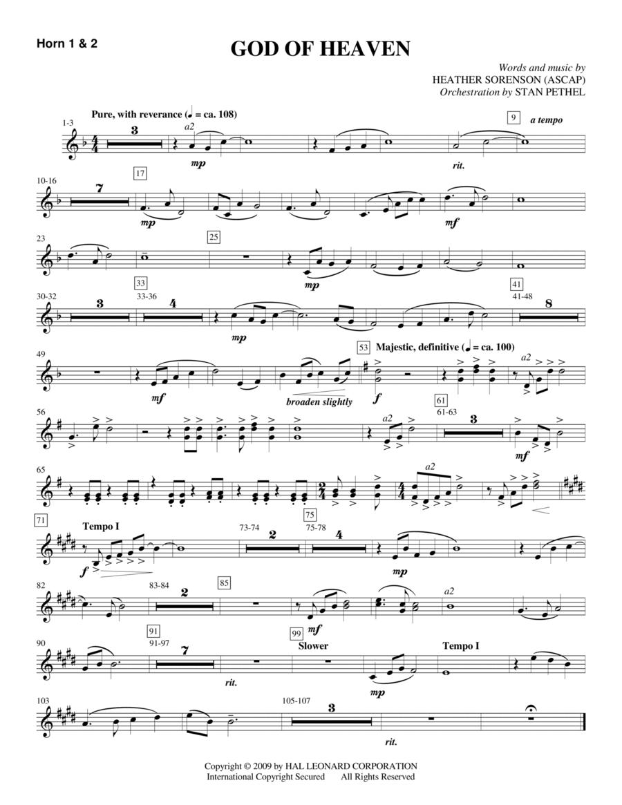 God Of Heaven - F Horn 1,2