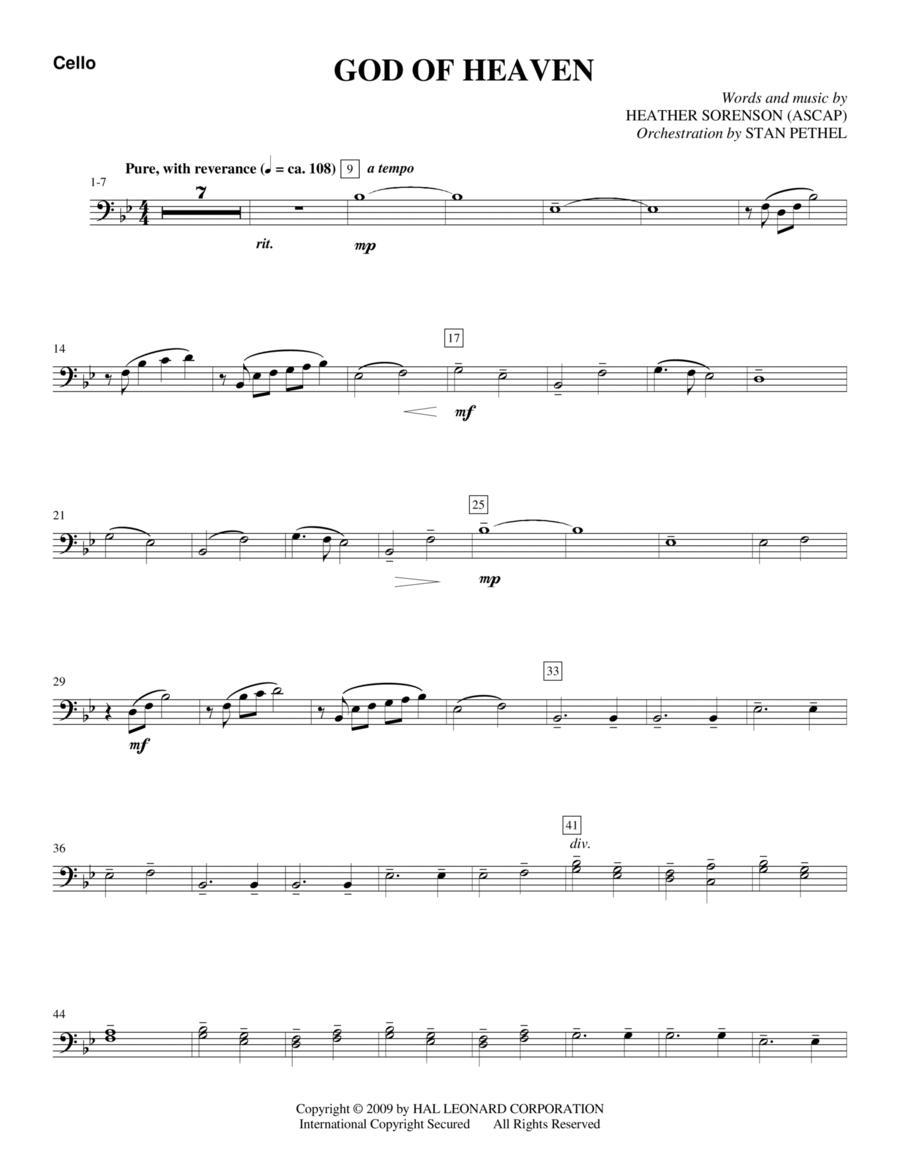 God Of Heaven - Cello