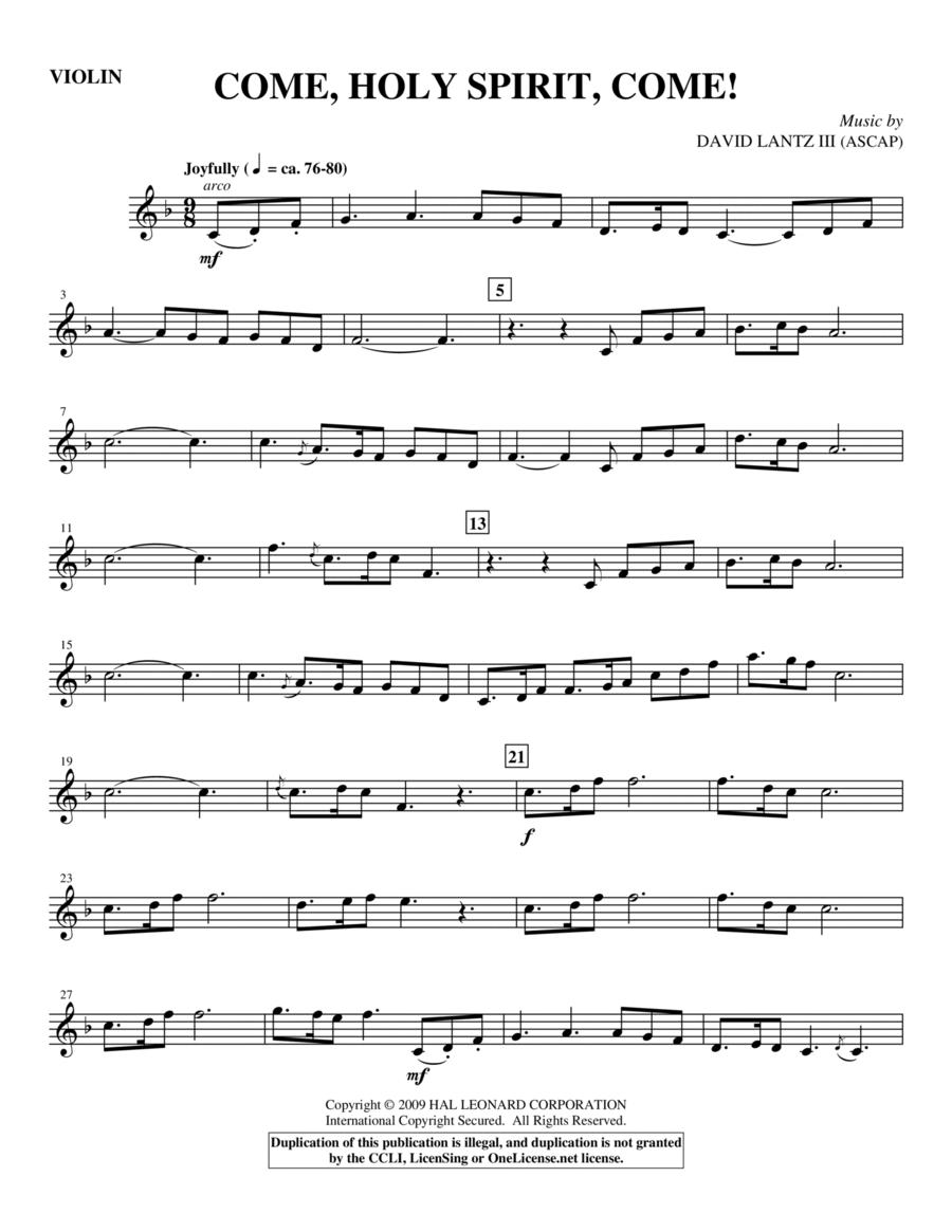 Come, Holy Spirit, Come! - Violin