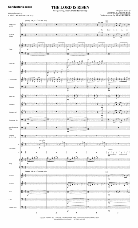 The Lord Is Risen - Full Score