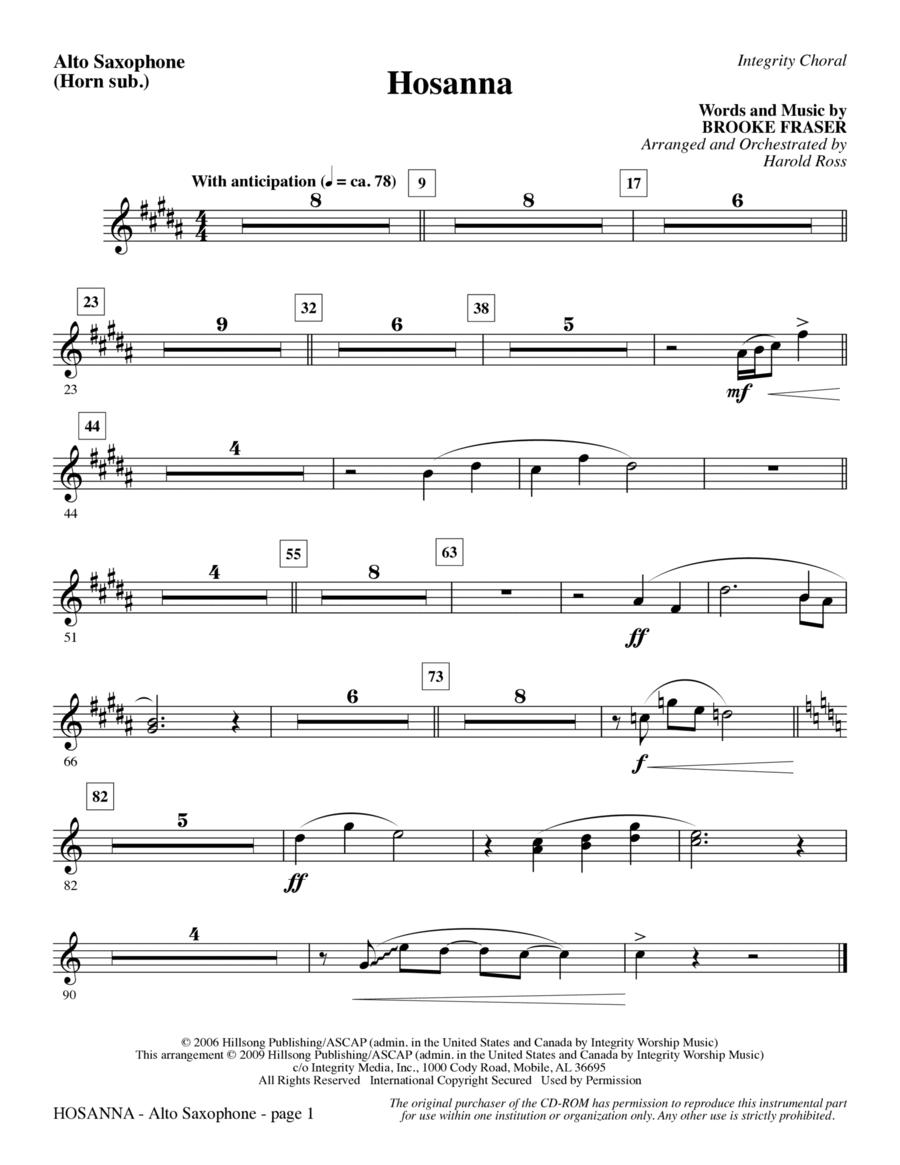Hosanna - Alto Sax (sub. Horn)