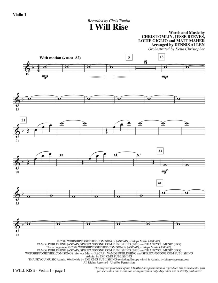 I Will Rise - Violin 1