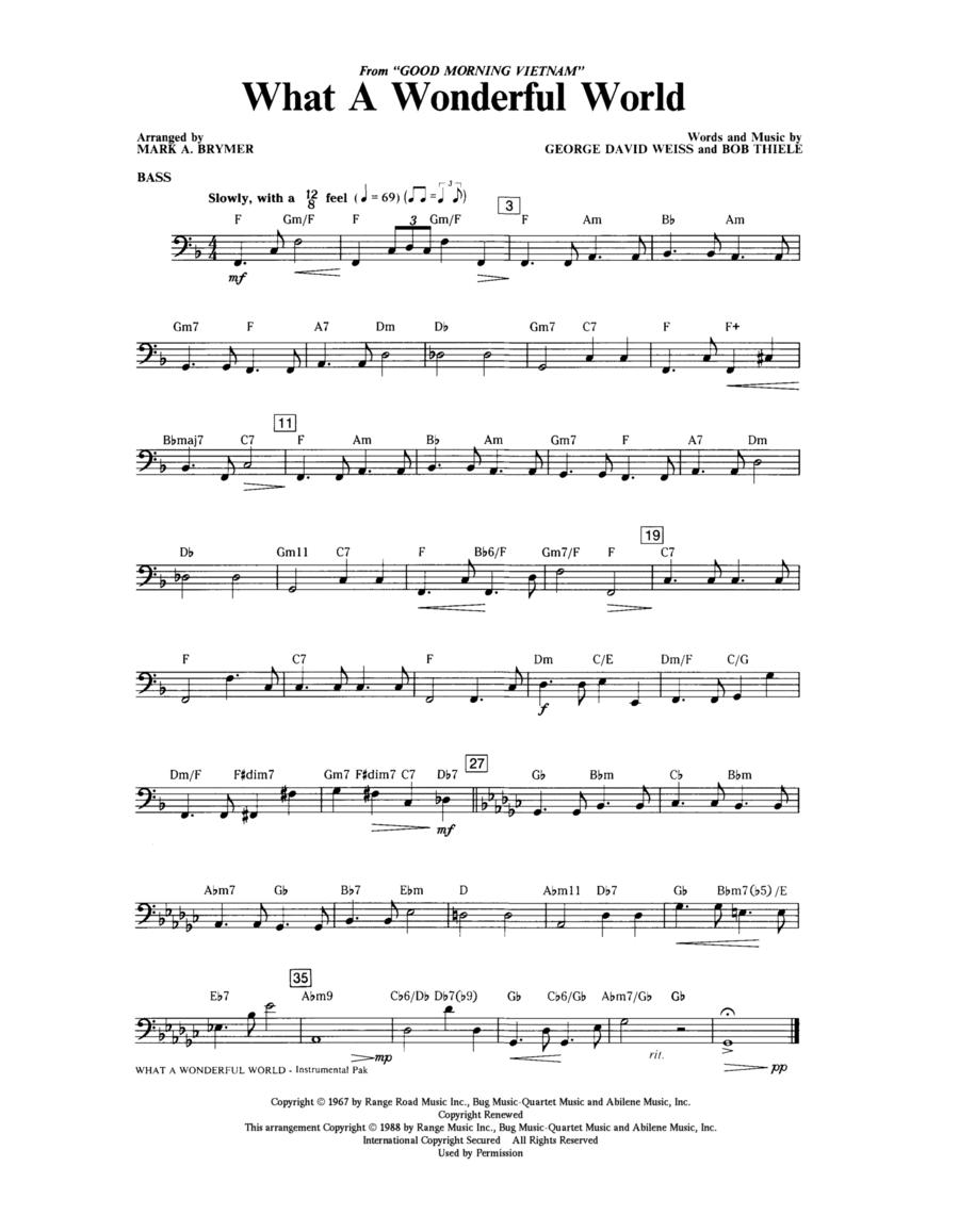 What A Wonderful World - Bass