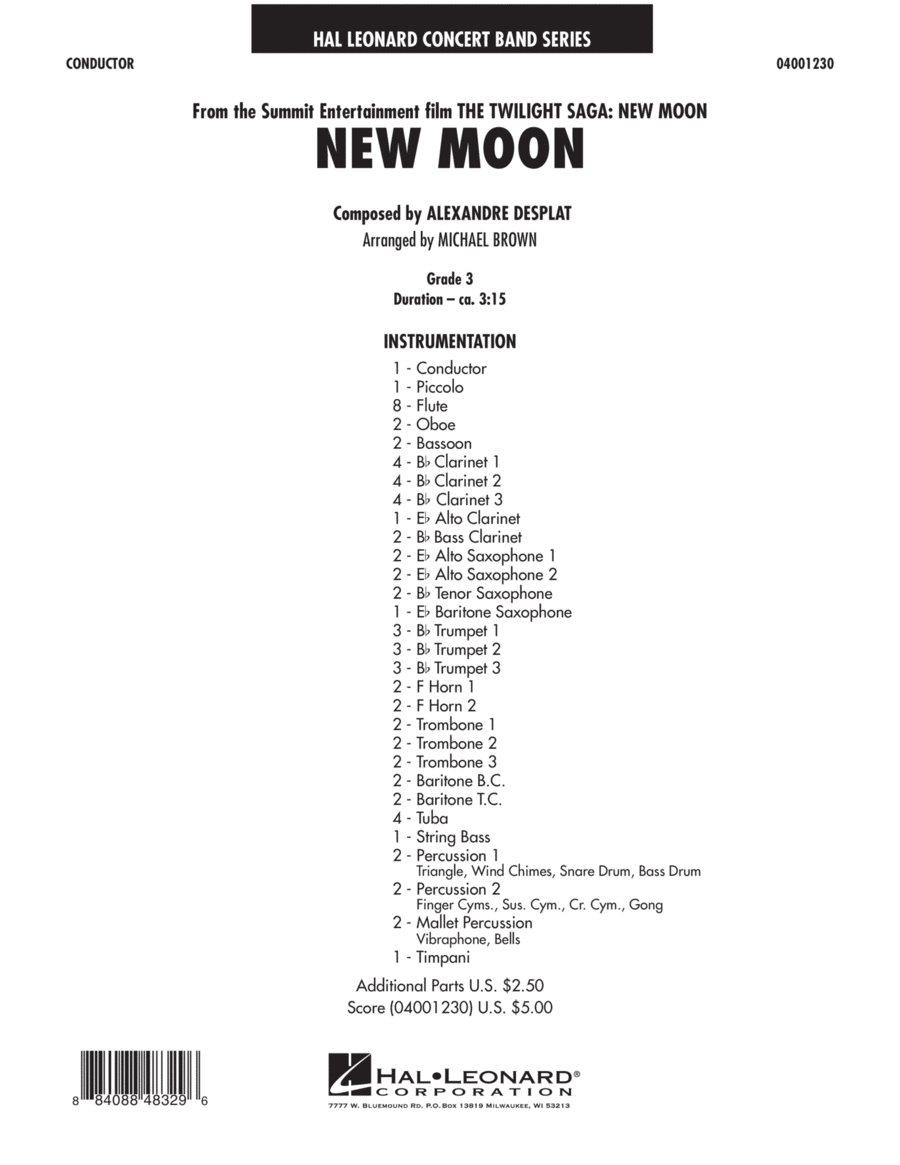 New Moon (The Meadow) - Full Score