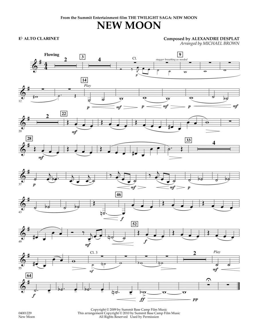 New Moon (The Meadow) - Eb Alto Clarinet