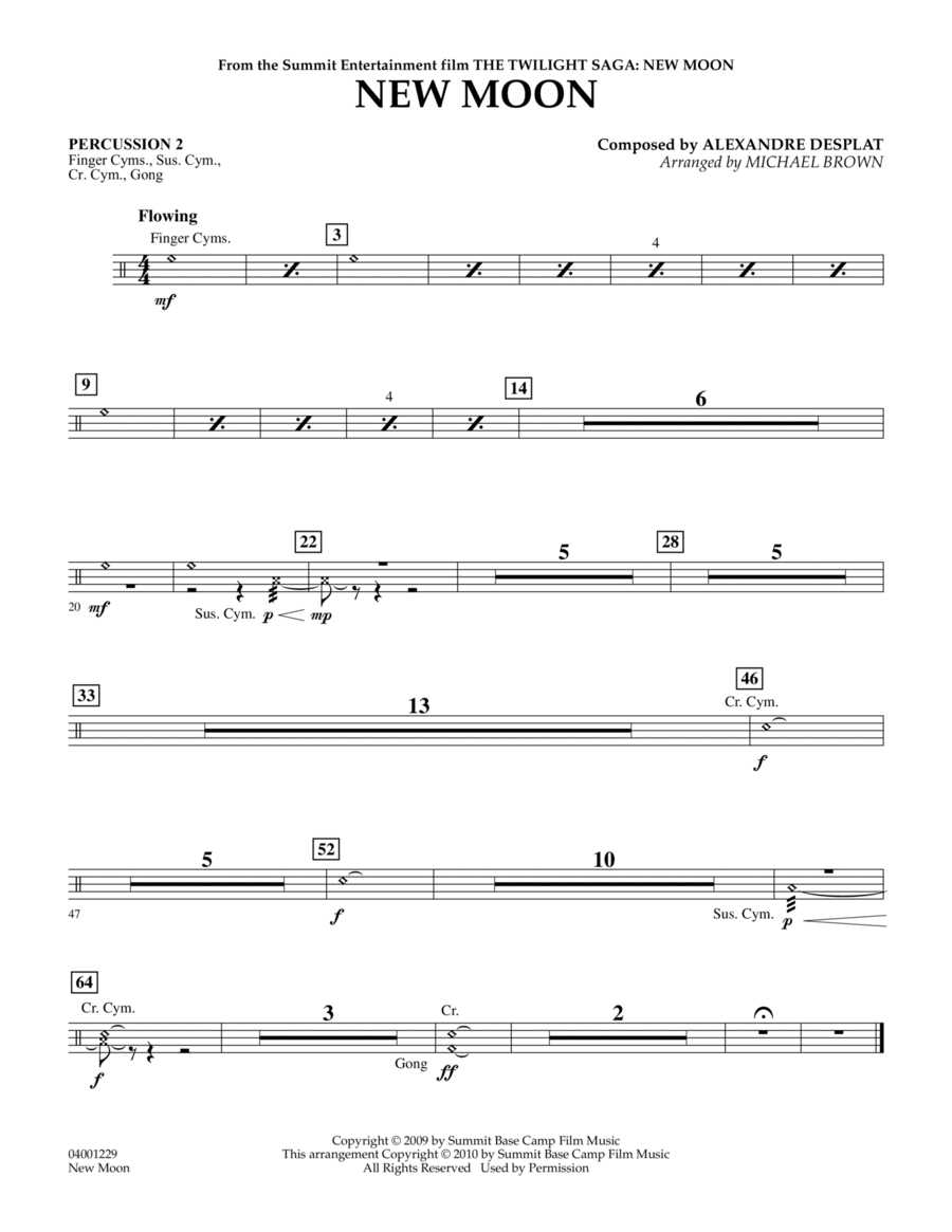 New Moon (The Meadow) - Percussion 2