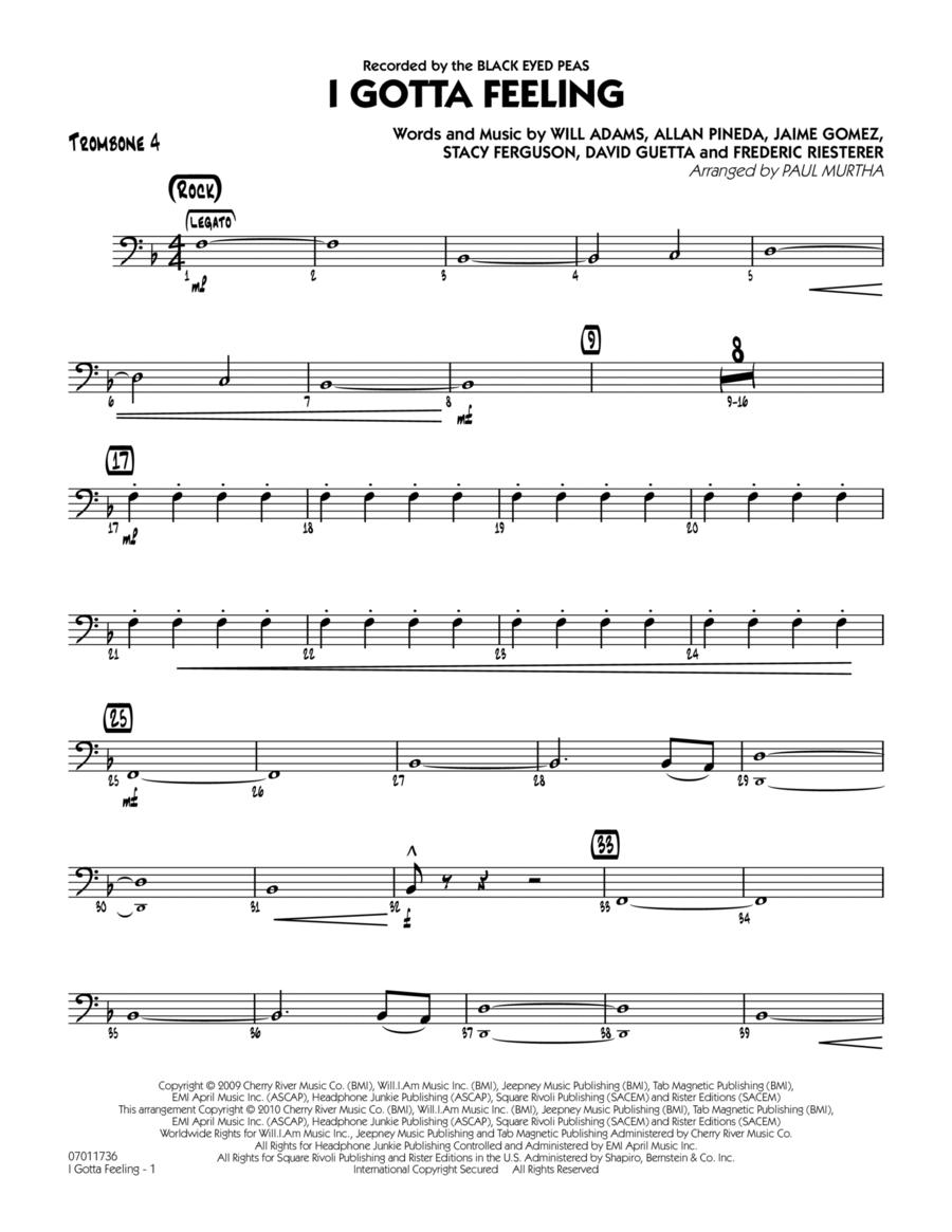 I Gotta Feeling - Trombone 4