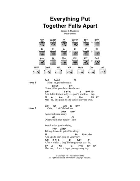 Everything Put Together Falls Apart