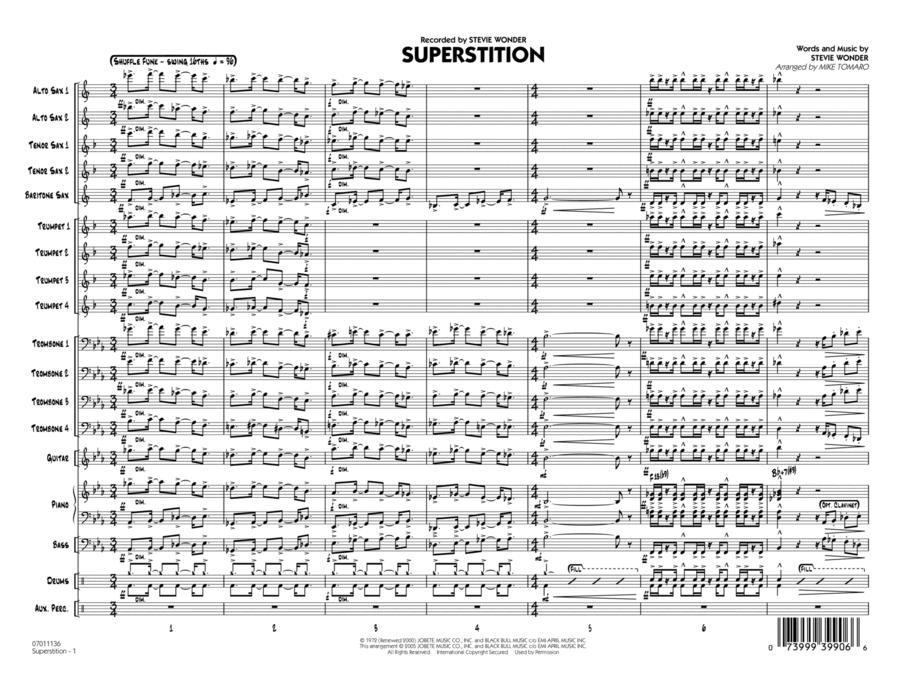 Superstition - Conductor Score (Full Score)