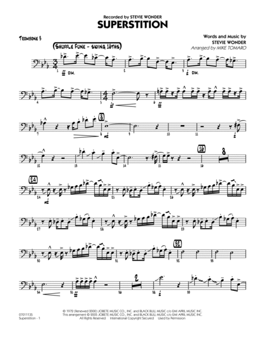 Superstition - Trombone 3