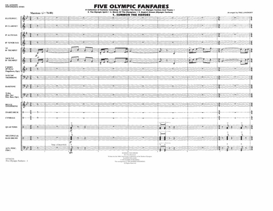 Five Olympic Fanfares - Full Score