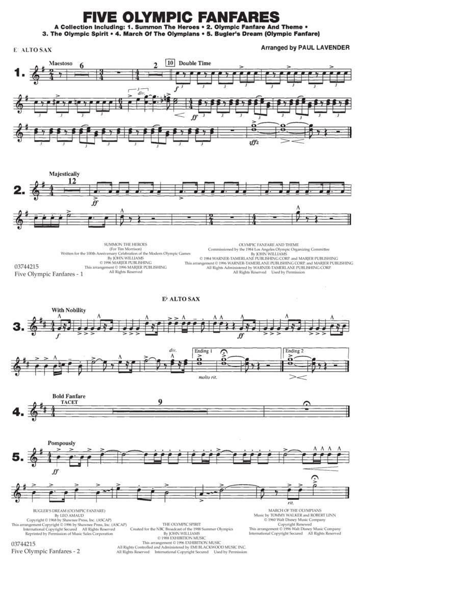 Five Olympic Fanfares - Eb Alto Sax