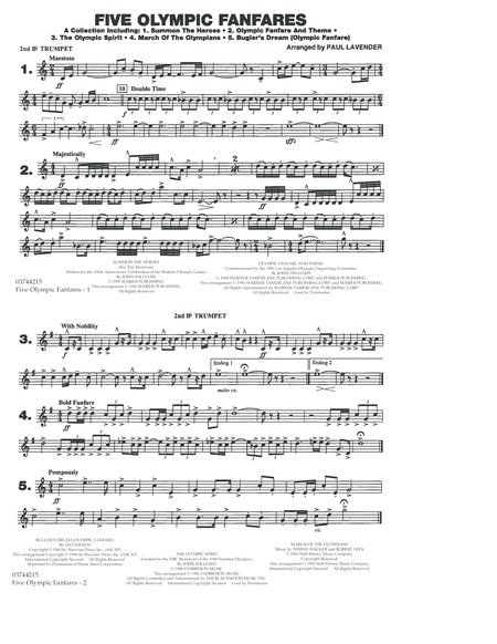 Five Olympic Fanfares - 2nd Bb Trumpet